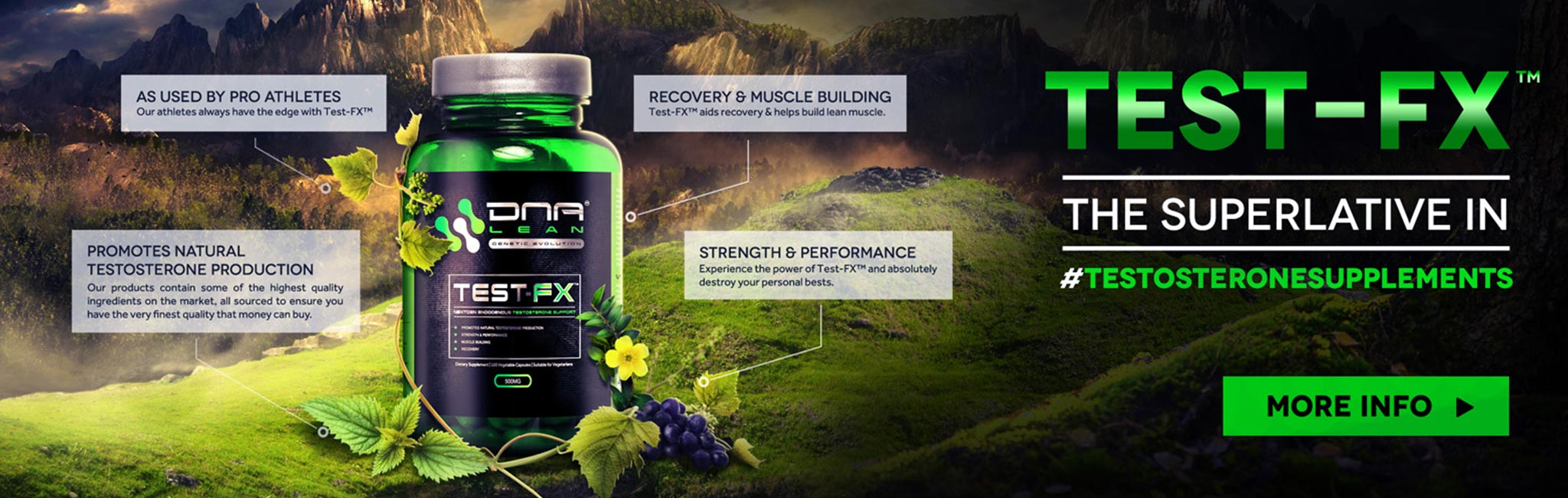 DNA Lean® Test-FX™ is a revolutionary new generation of natural testosterone booster